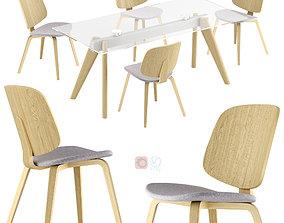 Boconcept - Aarhus dining chair Monza table 3D