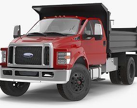 Ford F 650 2019 Tip Truck Rigged 3D model