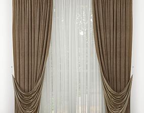 Curtain 3D model blind rail