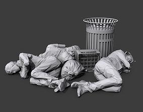Sleeping Bums 3D asset