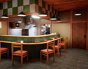 Japanese Restaurant - Scene and Assets game-ready