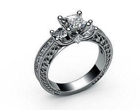 3D print model leaves Diamond Ring