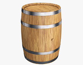 3D Wooden barrel 50L
