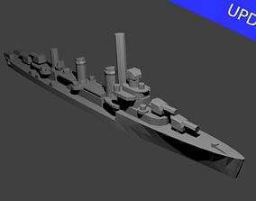 US Benson Class Destroyer Warship 3D printable model