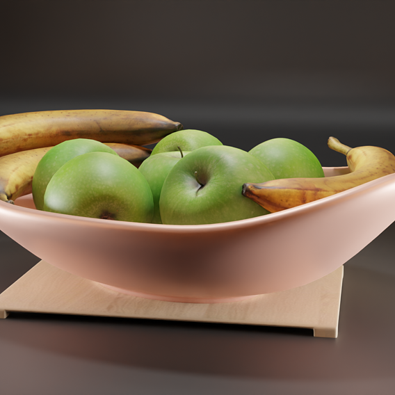 Basket and fruits
