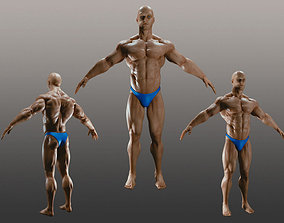 Male Bodybuilder A 3D model