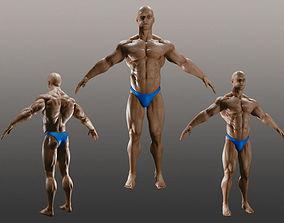 Male Bodybuilder A 3D model