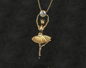 Ballet Pendant No 02 3D printable model