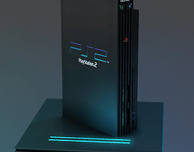 3D model PlayStation 2 Low Poly