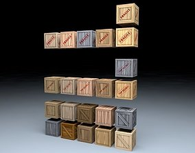 Wooden Crates Mega Pack 3D asset