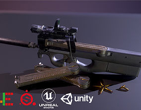 3D model Game Ready P90 Attached D180521