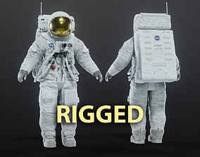 Apollo 11 Space Suit Rigged 3D model