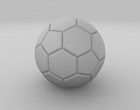 High Quality Football 3D asset