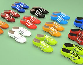 Football soccer boots footwear shoes 3D