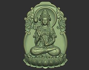 pendant 3D print model Kwanyin Bodhisattva