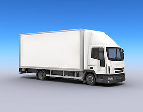 3D model Medium Size Box Truck