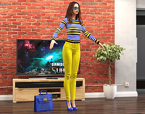 Teenage Girl Fashionable Style T Pose 3D