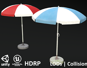 Garden Umbrella V2 - Clean and Dirty - 4 Colours 3D model