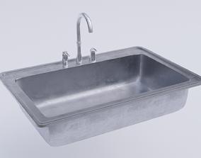 3D asset Steel Kitchen Sink