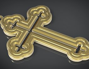 3D printable model Orthodox cross Necklace