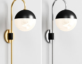 MID-CENTURY GLOBE WALL SCONCE 3D model