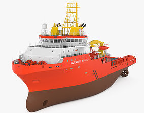 3D Anchor handling tug supply vessel