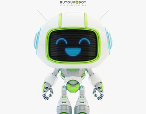 3D model Lovely robot - companion V
