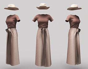3D asset Female Clothing 11