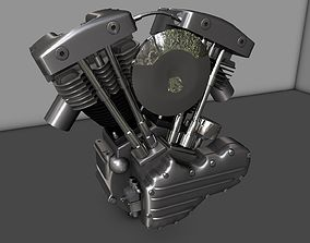 3D model Harley Shovelhead Motorcycle Engine