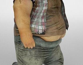 3D model Fat man low poly