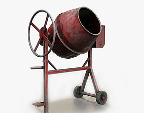 Concrete Mixer Game Ready 3D model