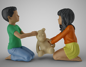 3D printable model Kids Toy Fight