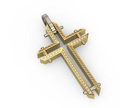 new 3D print model Cross with Diamonds