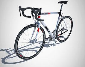 Racing Bike with LOD 3D asset