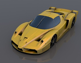 Ferrari fxx 3D model low-poly vehicle