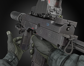 3D asset MP9 SUBMACHINE GUN