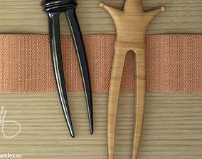 3D print model hairpin hair clip