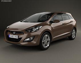 3D model Hyundai i30 5-door wagon EU 2013