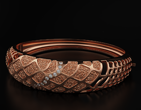 Very nice bracelet with diamonds 573 3D print model