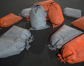 3D model Old Sandbags - mini set