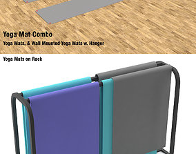 3D Yoga Mats and 2 Racks