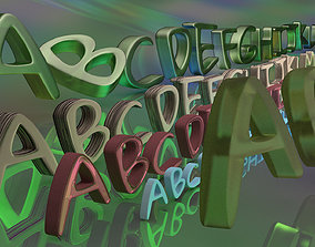 realtime Gloria Font 3D