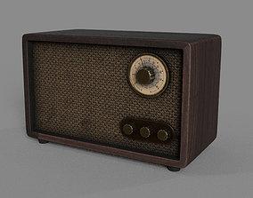 texture 3D Retro Radio