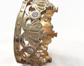 Wedding ring crown obr 209 3D printable model