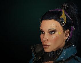 Cyberpunk Girl gameready 3D asset
