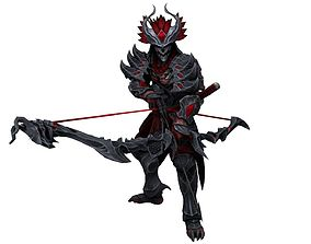 Hachiman is from the game Smite 3D model