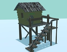 cottage 3D asset game-ready