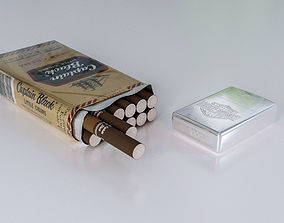 cigarette and zippo 3D asset