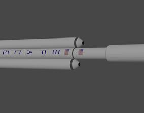 3D model Falcon Heavy
