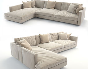 3D printable model realistic sofa